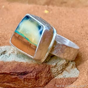 Shop Liframy Island in the Sky Boulder Opal stone Ring Statment jewlery handmade one of a kind Jewelry Hand forged by Amy Whitten in The USA  300x300 - Shop Liframy - Island in the Sky Boulder Opal stone Ring Statement jewelry handmade one-of-a kind-Jewelry Hand forged by Amy Whitten in The USA