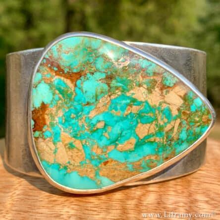 Shop Liframy – Large Montezuma Turquoise Cuff