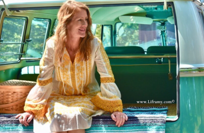 """About Amy """"Liframy"""" Whitten Jeweler and artisan VW Beatle with Amy and statement Jewelry"""