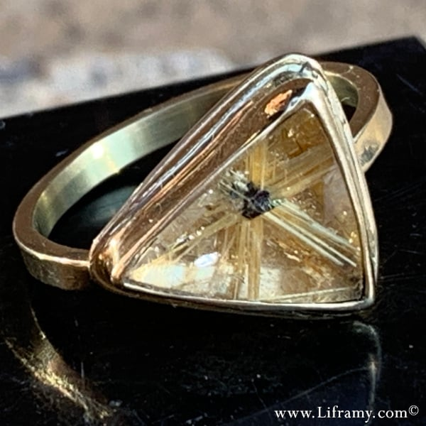Star Rutilated Quartz Ring Hand forged by Amy Whitten