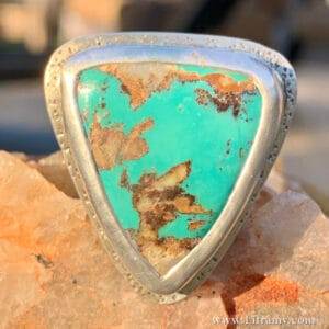 Arrowhead style American Turquoise Ring