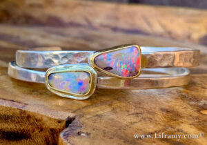 Boulder Opal Stacking Cuffs 300x210 - Boulder Opal Stacking Cuffs
