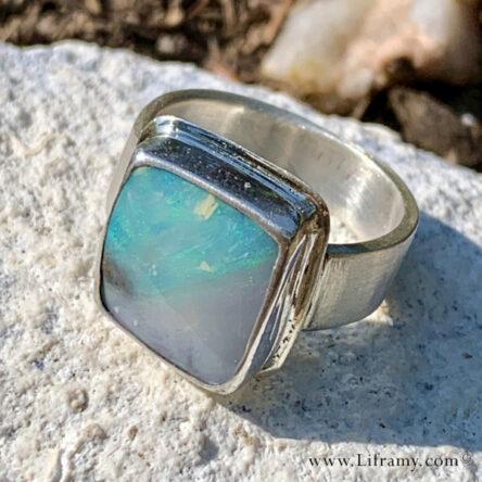 Shop Liframy – Picture Boulder Opal Ring  size 8