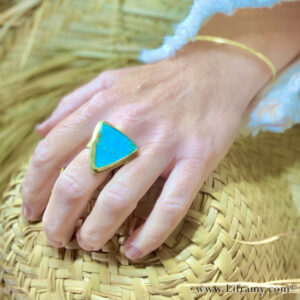 IMG 4607p 300x300 - Shop Liframy - Tropical Gem Silica 18k Gold Ring