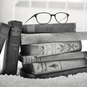 stack of books, vintage books, book