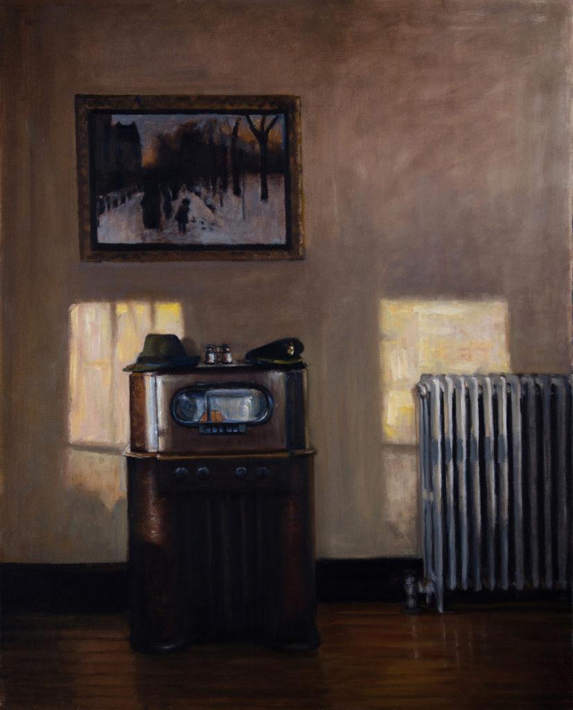 "Boston Public Radio, oil on canvas, 2016 22x28"""