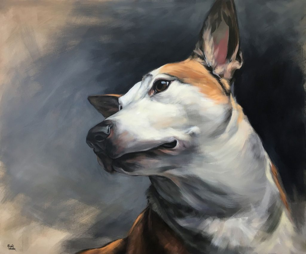 """Roo"" (Mixed Breed) / Acrylic on canvas / 58"" x 48"" / 2016"