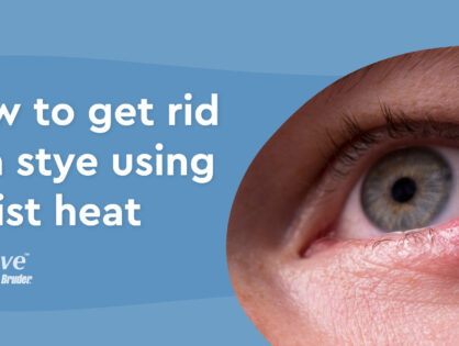 How to get rid of a stye with moist heat