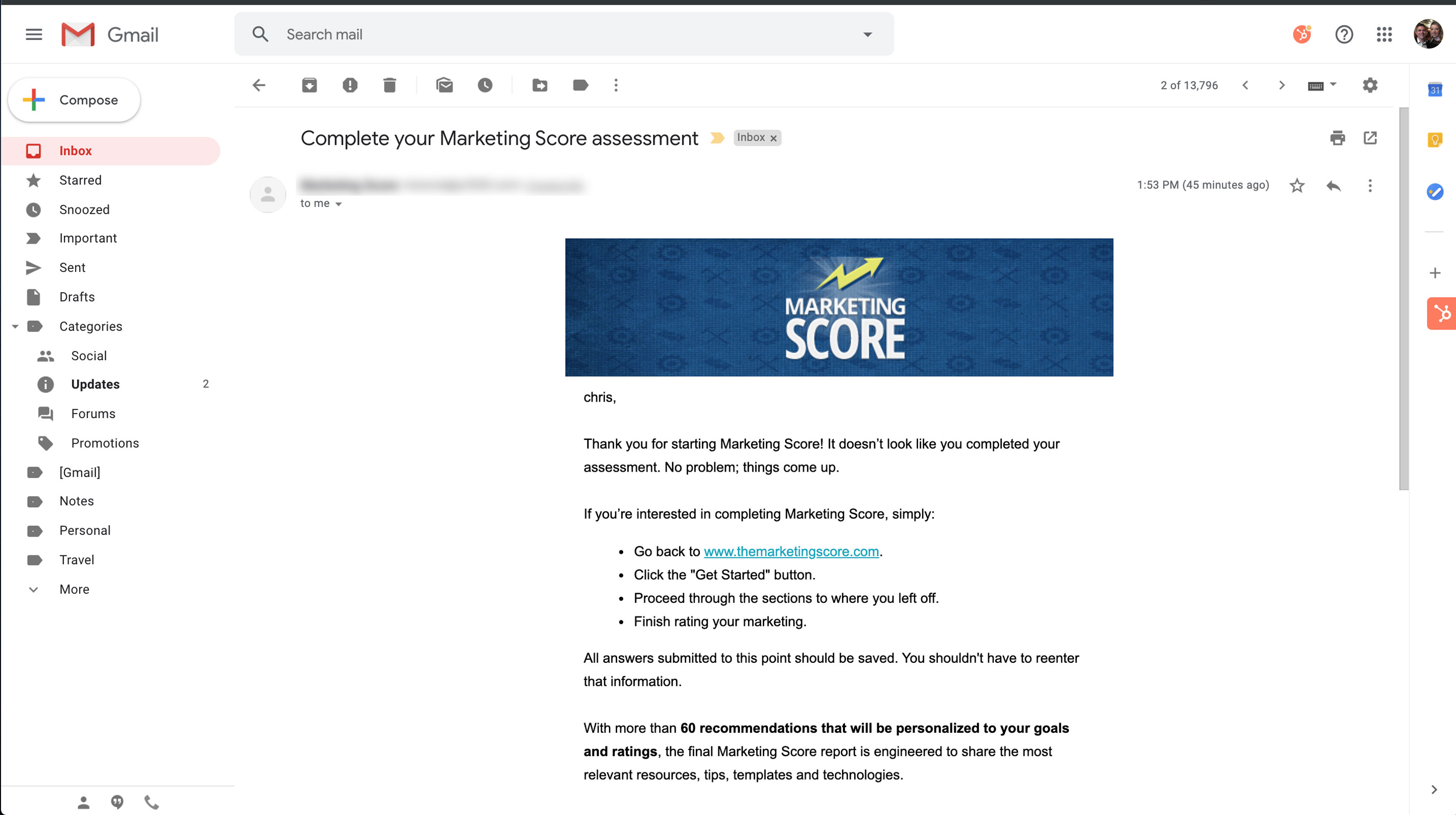 conversion path email