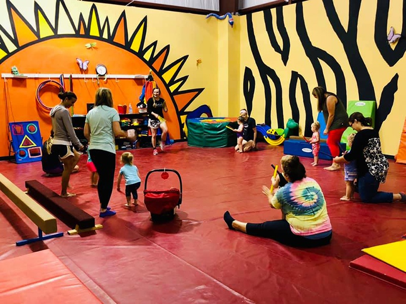 Siouxland Gymnastic Academy Room with young students