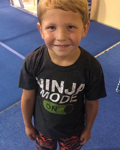 Ning boy with ninja mode t shirt