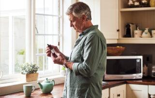 man in kitchen history of medical marijuana