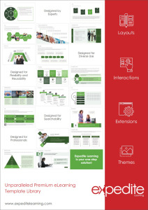Some of the many templates available with Expedite Learning (ExL).