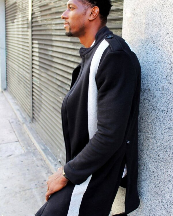 GarrCeeCollection Black And Gray Trench Coat