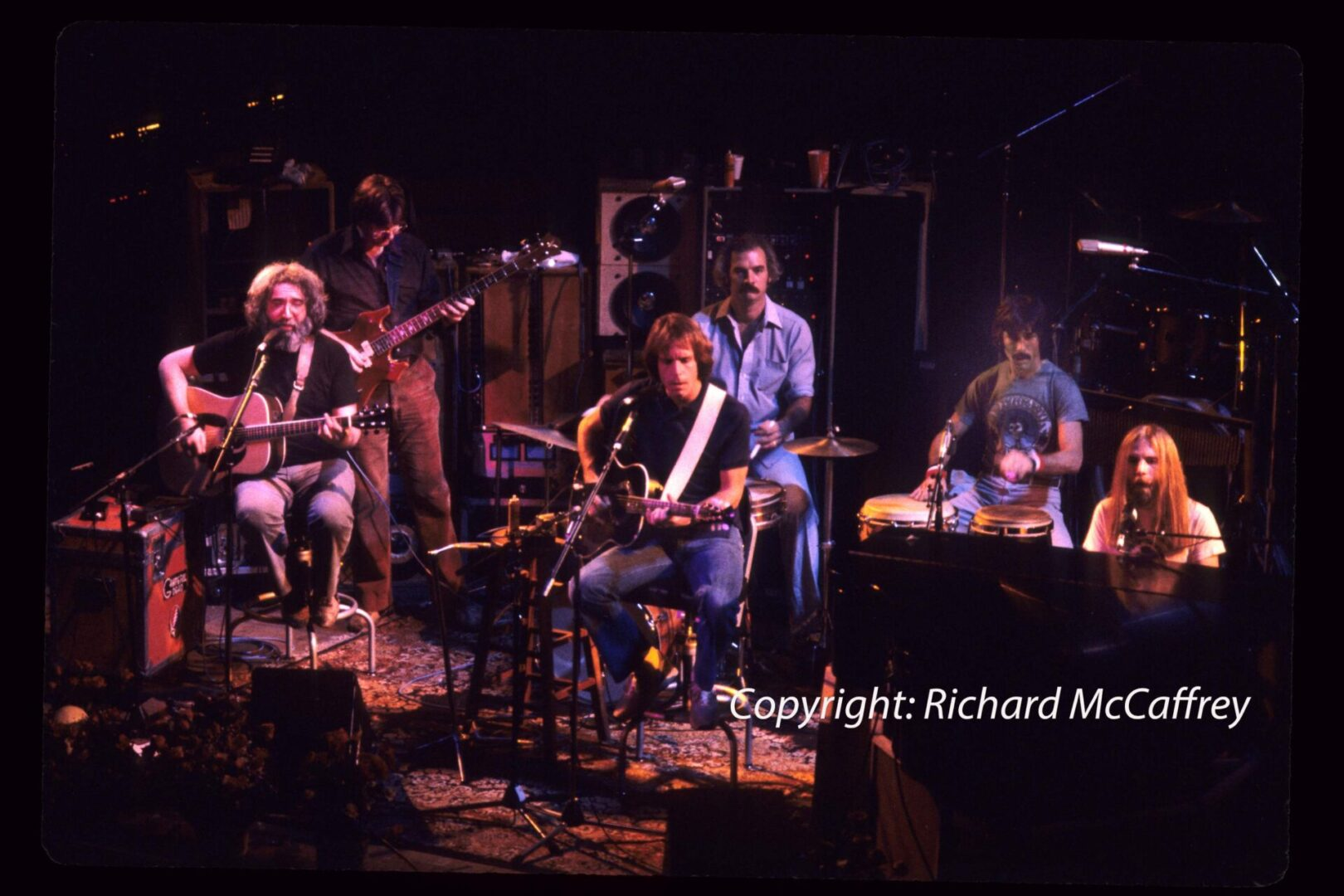 Grateful Dead; Jerry Garcia, Phil Lesh, Bob Weir, Bill Kreutzmann, Mickey Hart, Brent Mydland; Warfield Theatre; SF CA 1980