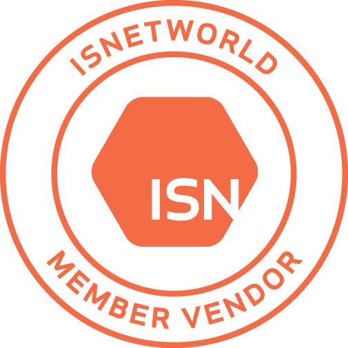 ISNetworld member logo orange white REVAMP 2019