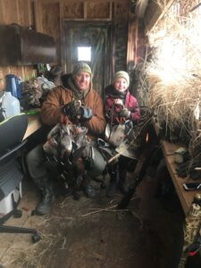 River goose hunting in Colorado