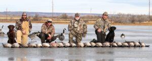 Hunters Colorado goose hunting ice