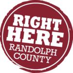 Right Here Randolph Logo
