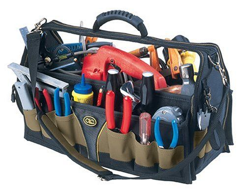 A tool bag used to install stair lift parts