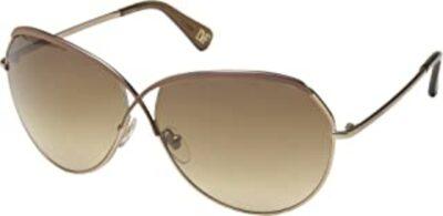 Diane Von Furstenberg DVF107S Color 210 Brown Size 64-12-135