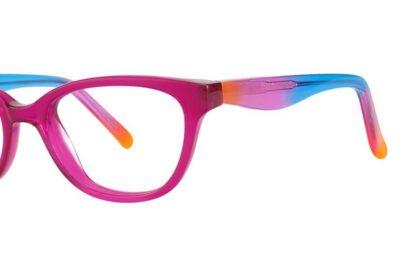 Modern Eyeglasses Confetti Color Fuchsia Size 45-16-125
