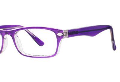 Modern Eyeglasses Care Color Purple/Crystal Size 46-15-135