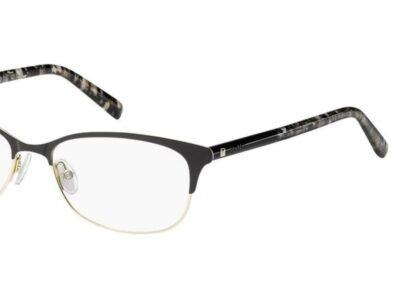 MaxMara Eyeglasses MM1306 Color 1EI Black Grey Text Size 55-16-145
