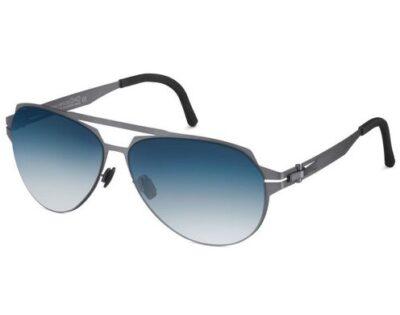 OVVO Optics Steel Titanium 2773 Sunglasses Blue Gradient Zeiss Lenses
