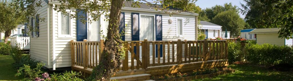 A mobile home with mobile home insurance coverage