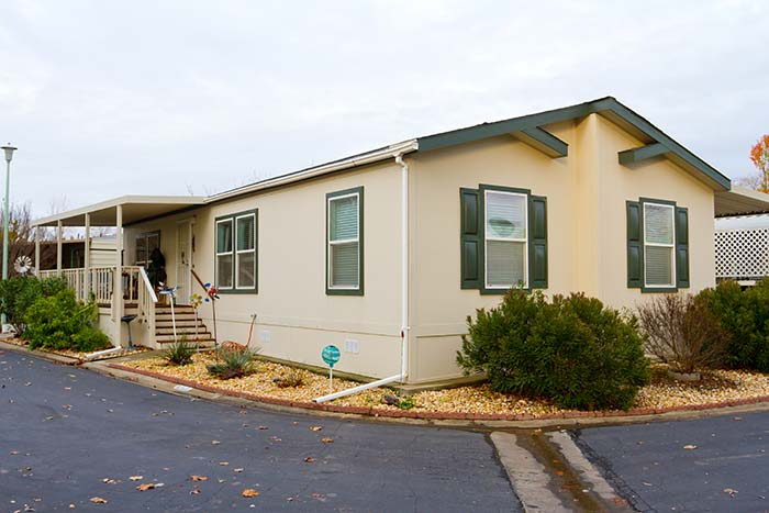 mobile home that is covered by mobile home insurance