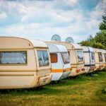 rows of motor homes