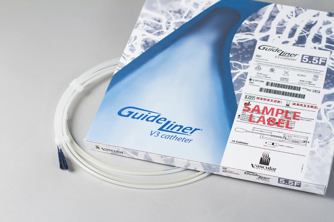 Front package with catheter