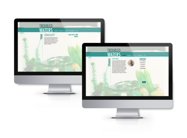 Simple webpages for the conference that outline the main details of the event.