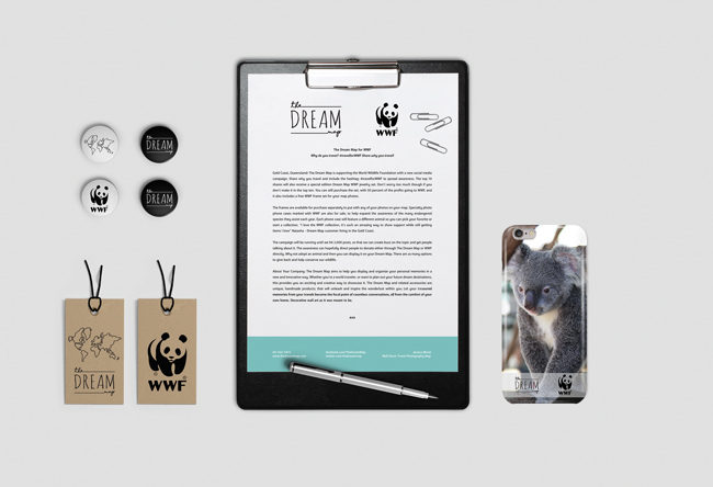 WWF Campaign press release and phone case