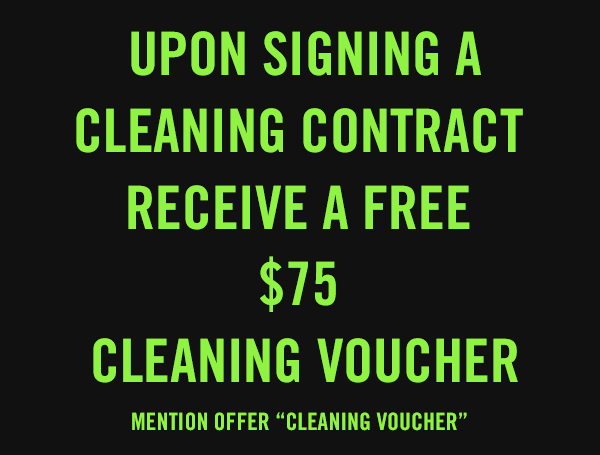 Upon signing a cleaning contract receive a free $75 cleaning voucher for the holidays