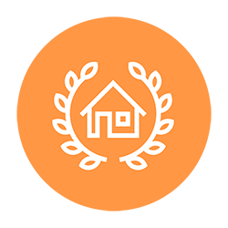 An icon of a house, symbolizing estate planning
