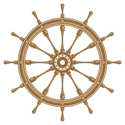 boat steering wheel illustration
