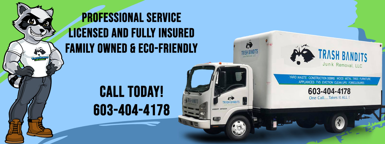 Professional Servicem Fully Insured, Family Owned
