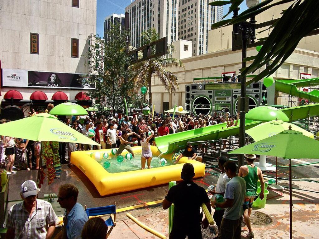 Propmasters 2012 Bud Light Lime Waterslide Commercial 01