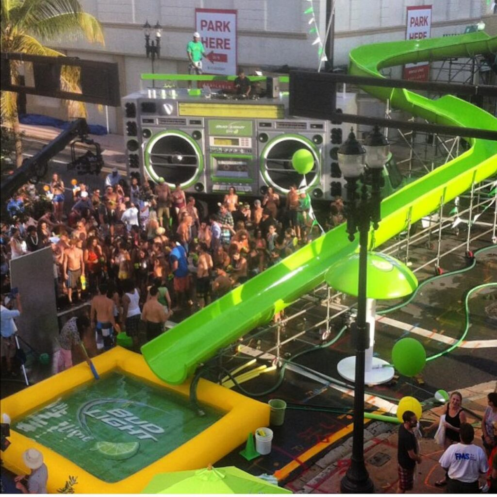 Propmasters 2012 Bud Light Lime Waterslide Commercial