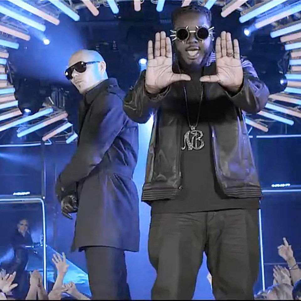 Pitbull and T-Pain set by Propmasters Miami