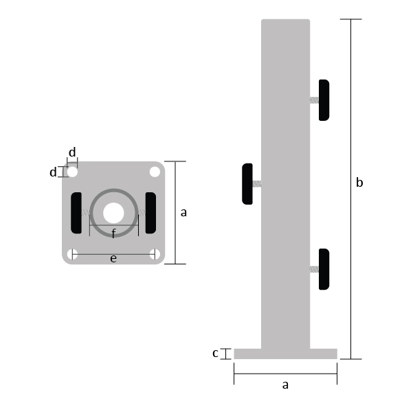 B5 Anchor Mount Small Dimensions