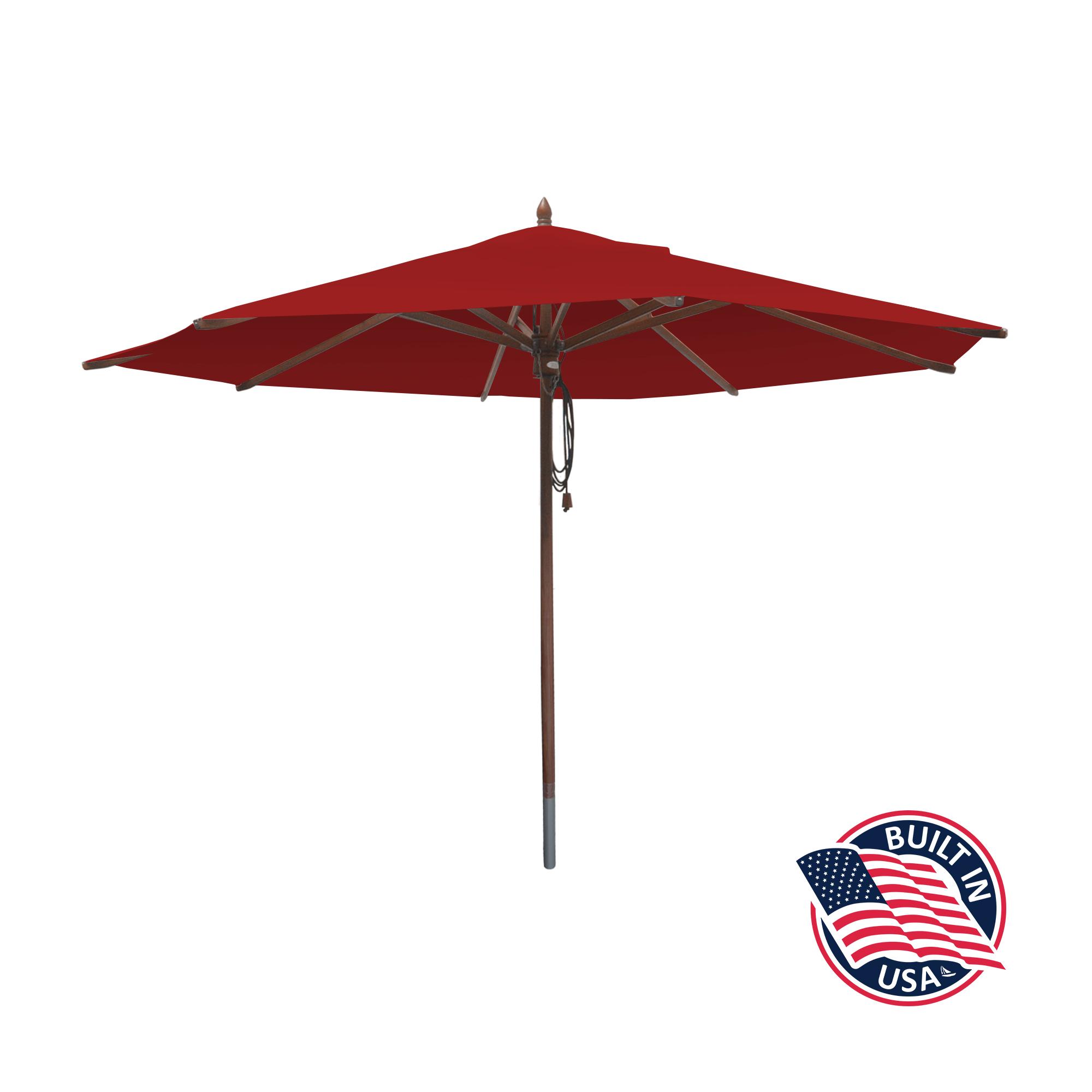 11′ Octagon African Mahogany Umbrella