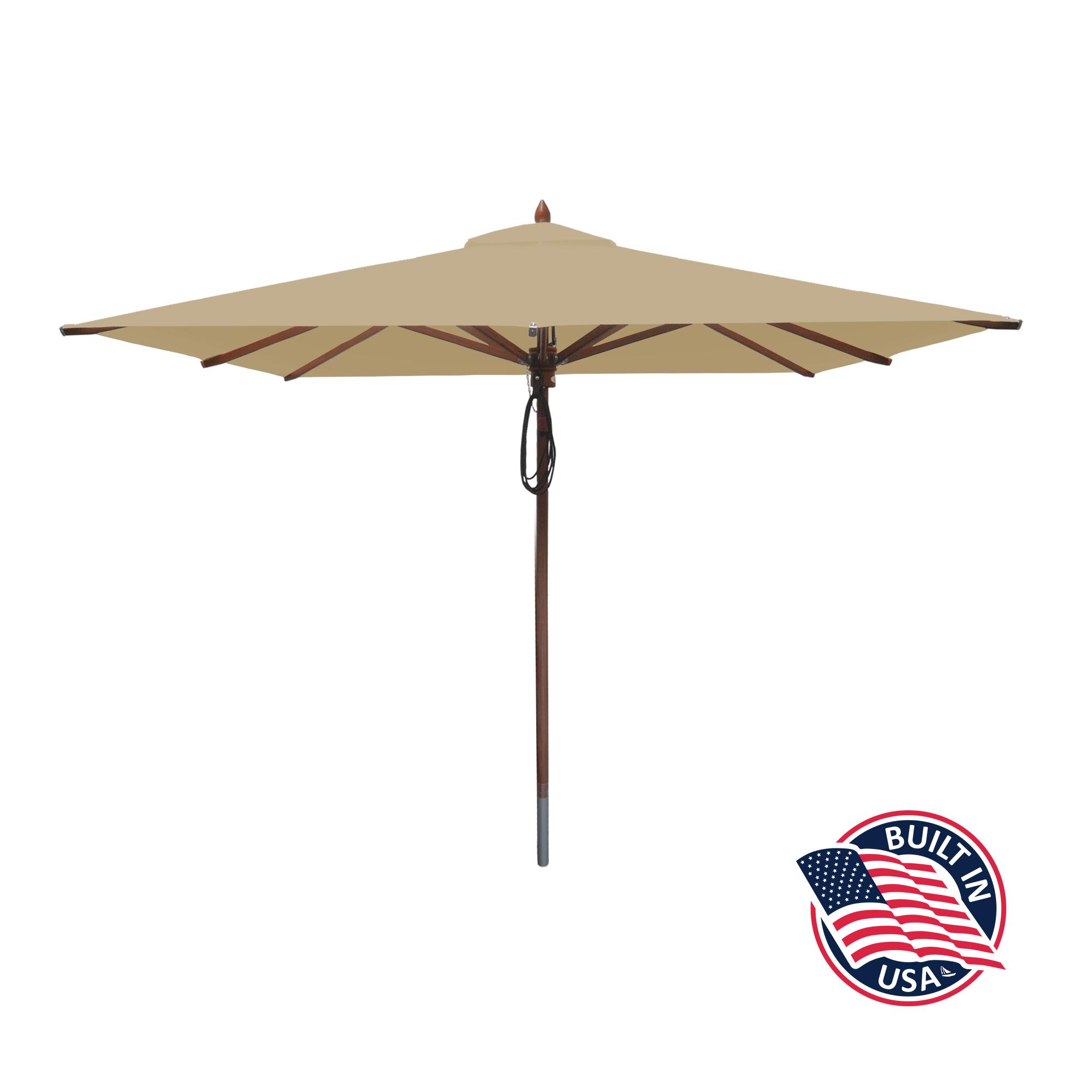 8′ Square African Mahogany Umbrella