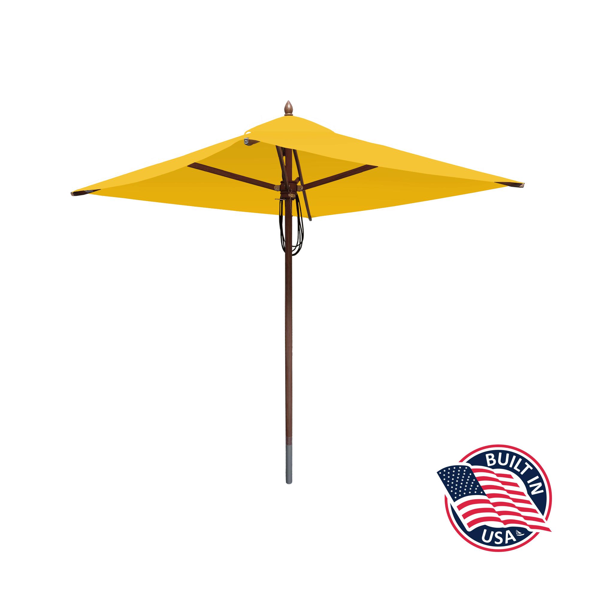 6.5′ Square African Mahogany Umbrella