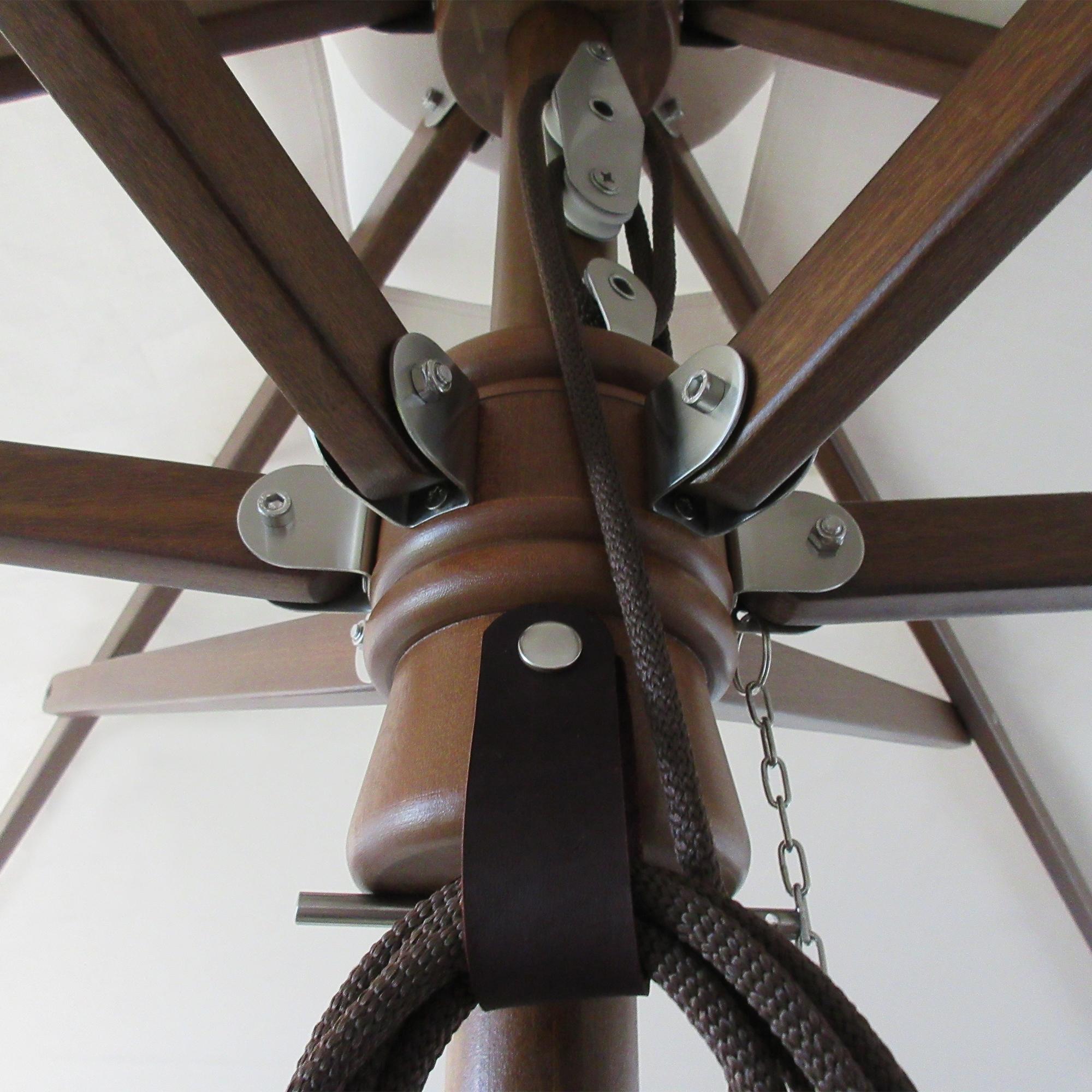 10′ Square African Mahogany Umbrella