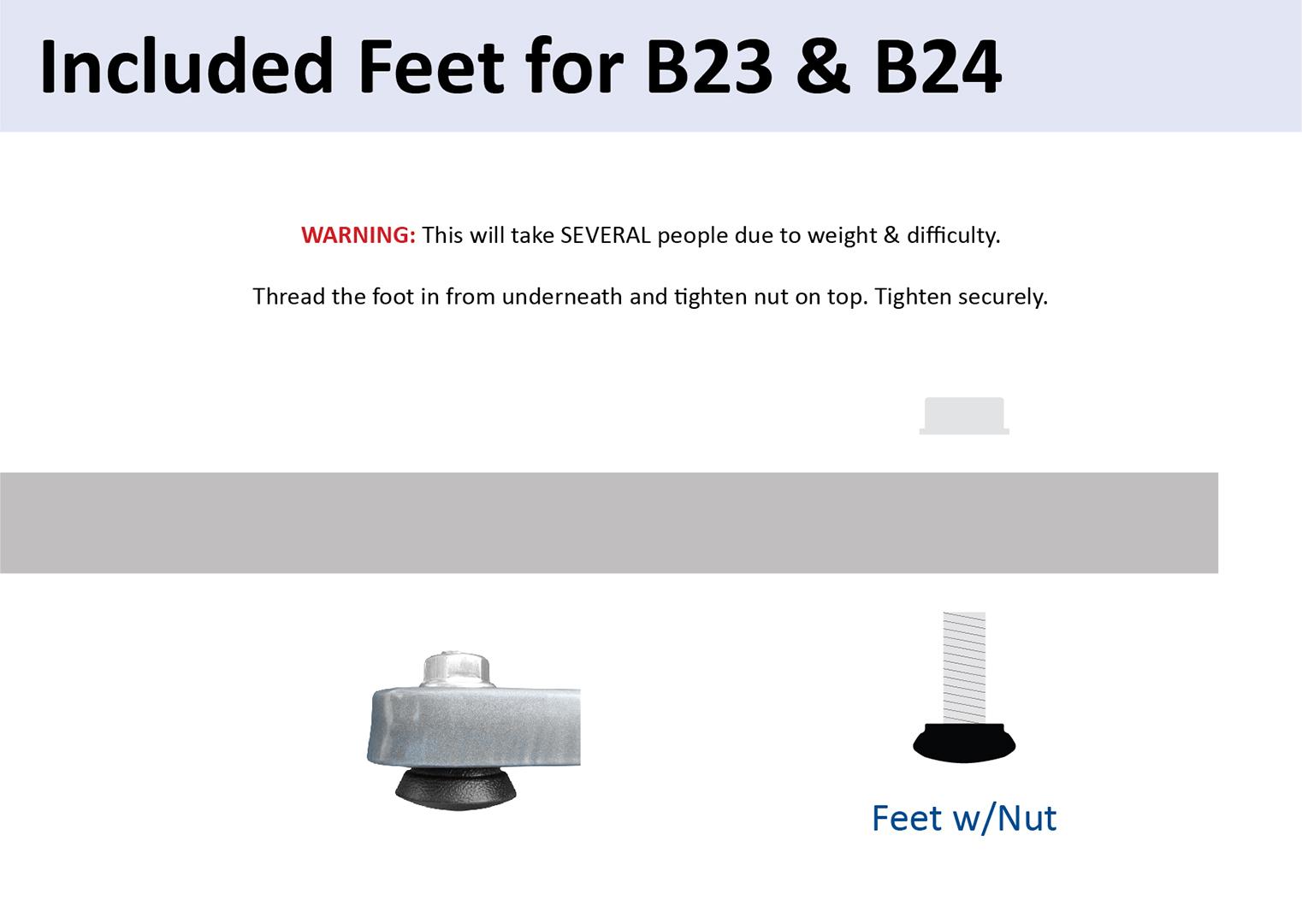 Low Profile Feet Install Diagram