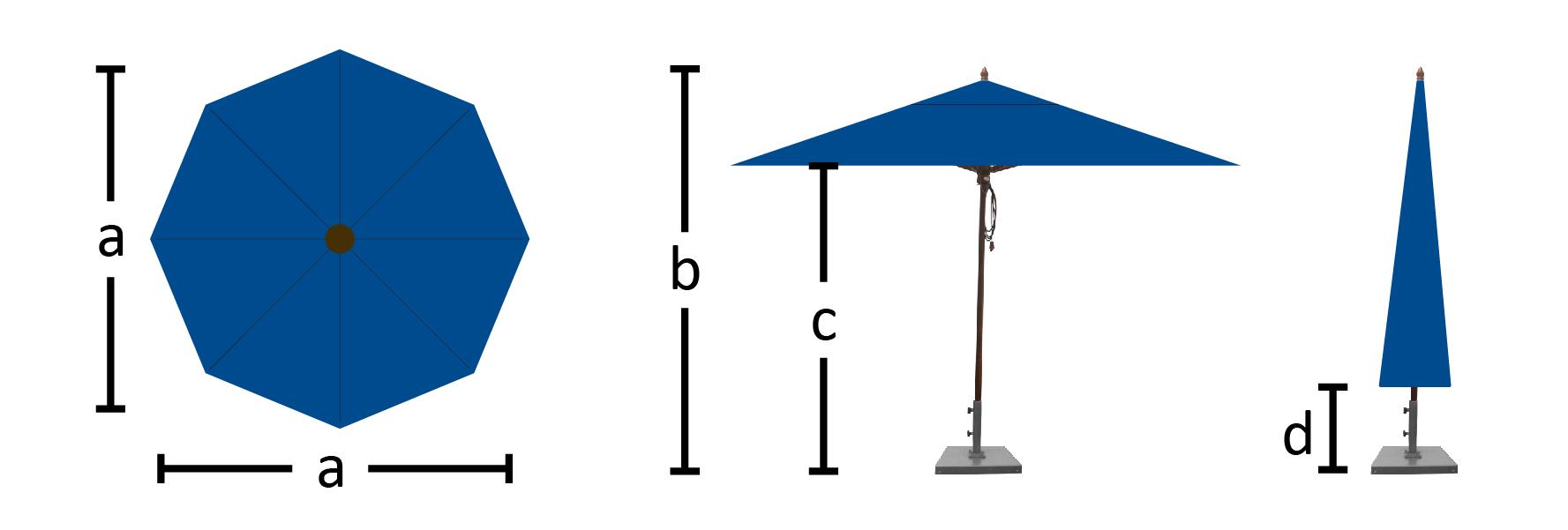 Octagon Dimensions