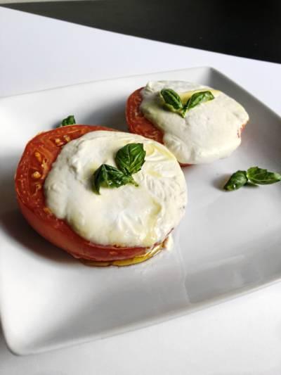 Roasted Tomato, Mozzarella, and Basil